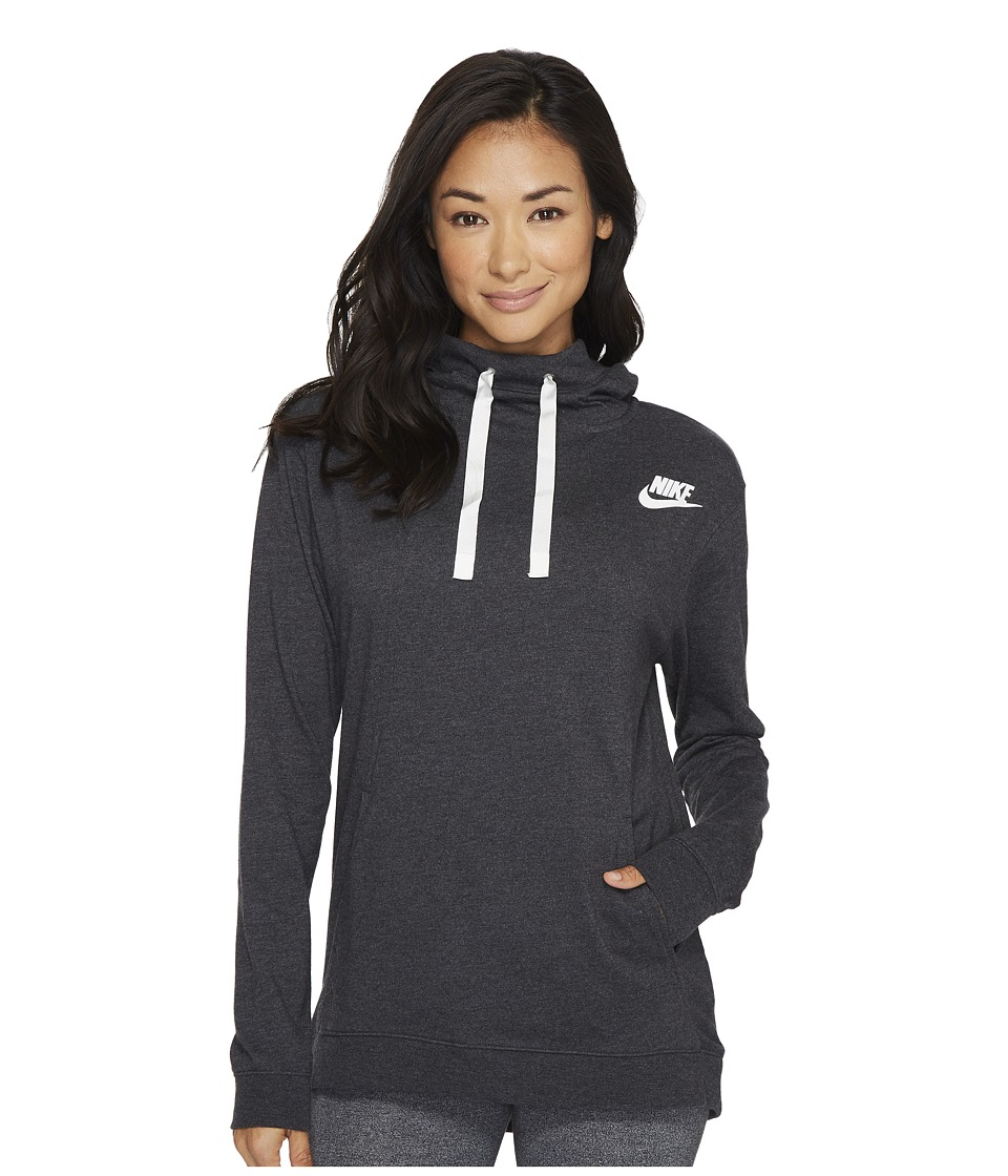 Nike Sportswear Gym Classic Pullover Hoodie (Black Heather/Sail) Women