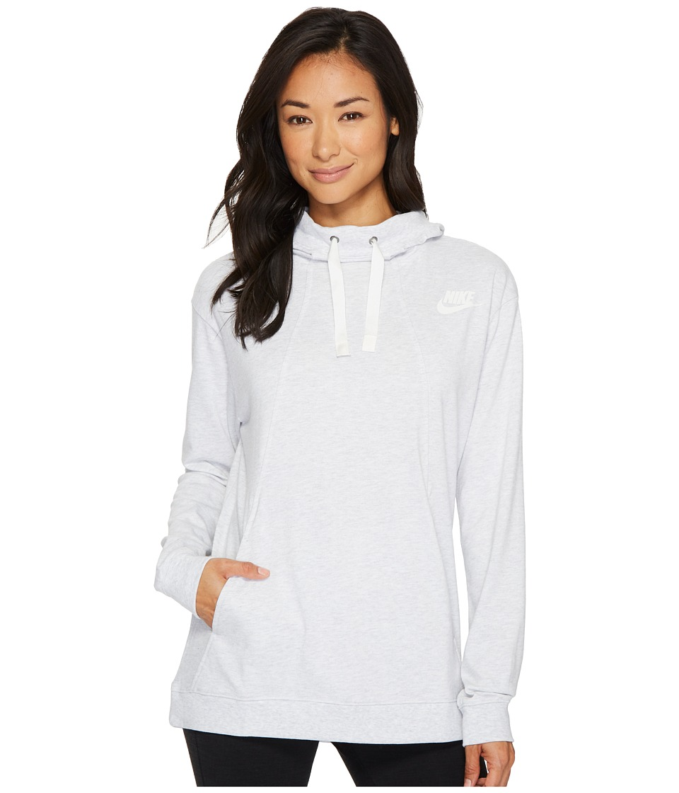 Nike Sportswear Gym Classic Pullover Hoodie (Birch Heather/Sail) Women