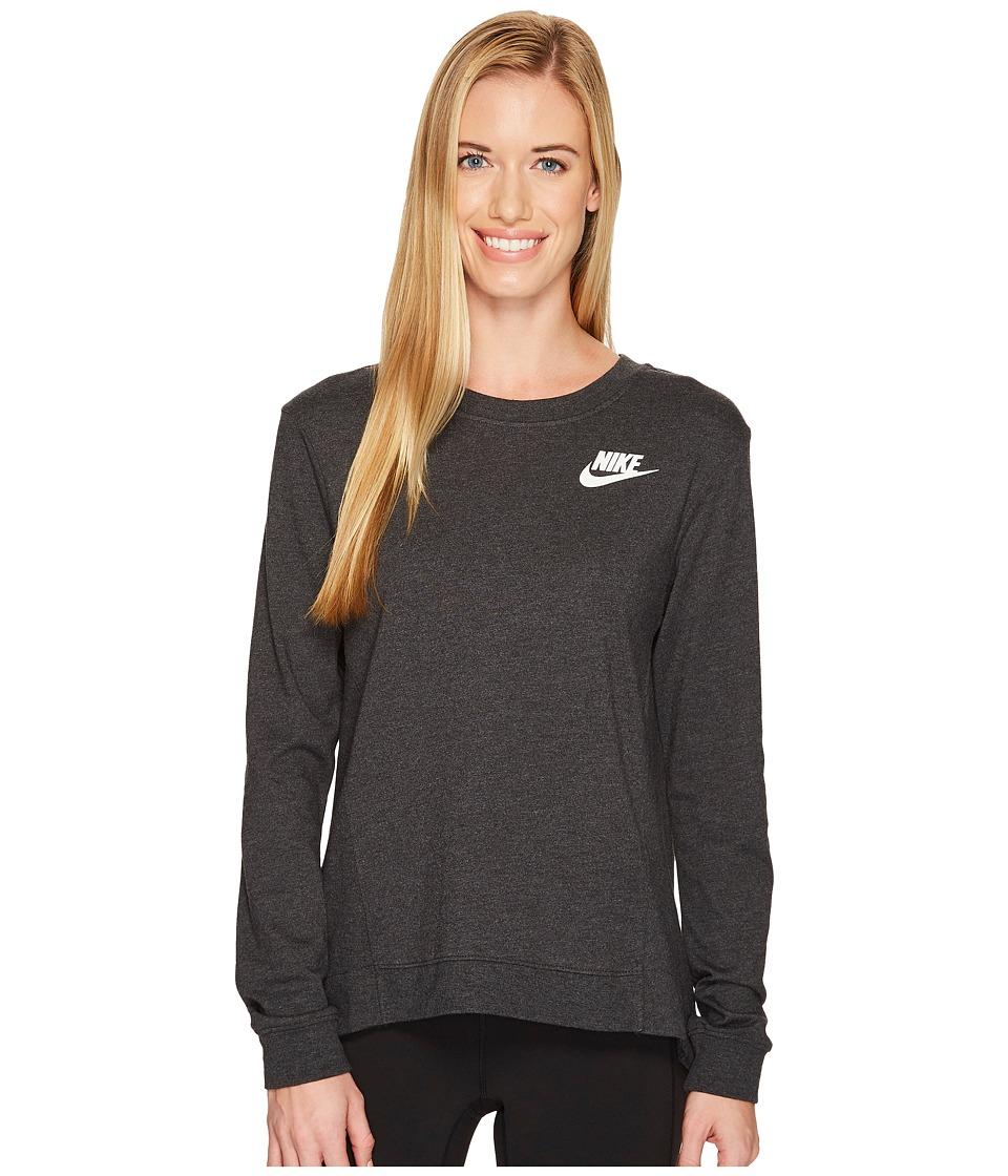 Nike Sportswear Gym Classic Crew (Black Heather/Sail) Women