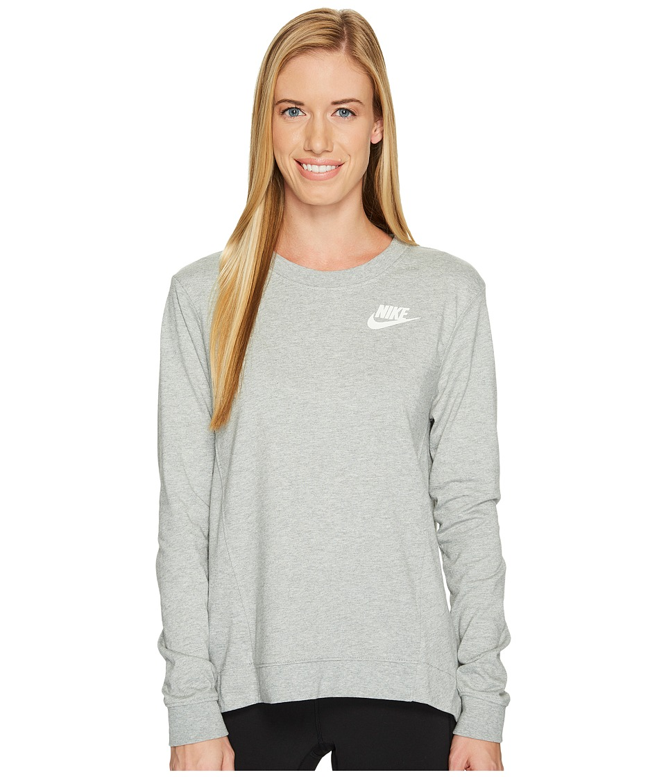 Nike Sportswear Gym Classic Crew (Dark Grey Heather/Sail) Women