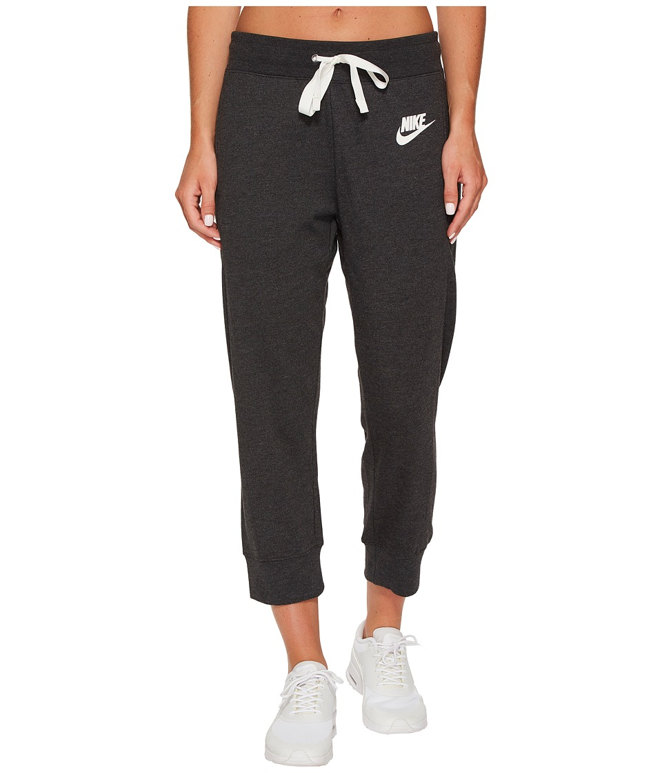 Nike Sportswear Gym Classic Capri (Black Heather/Sail) Women