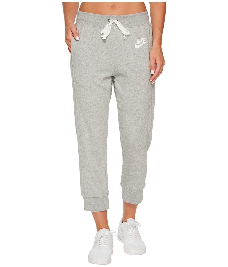 Nike Sportswear Gym Classic Capri (Dark Grey Heather/Sail) Women