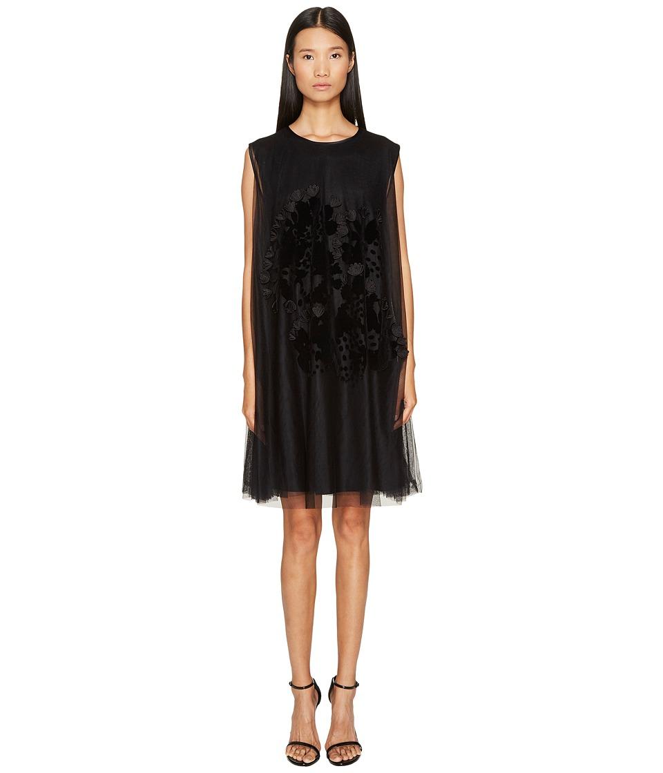 Sportmax - Sonale Floral Jersey Dress (Black) Womens Dress