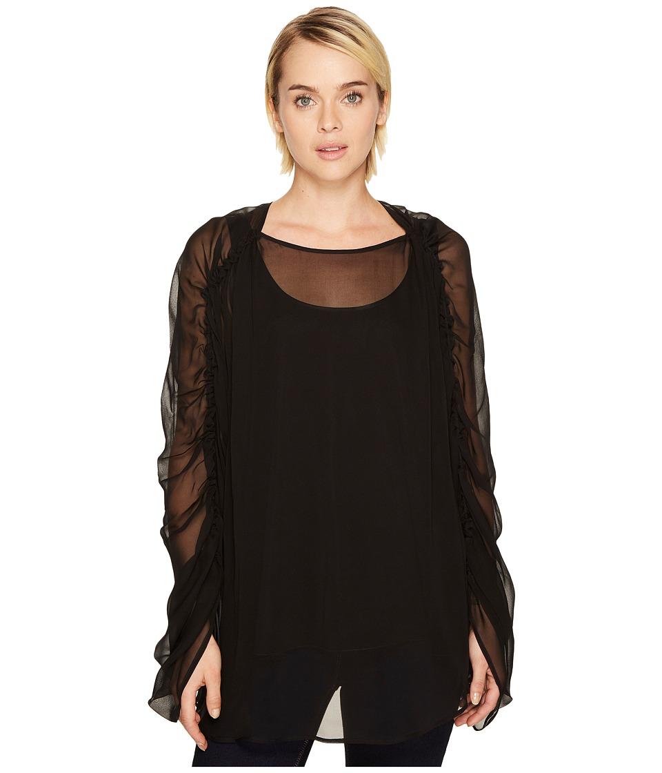 Sportmax - Perry Long Sleeve Top (Black) Womens Blouse