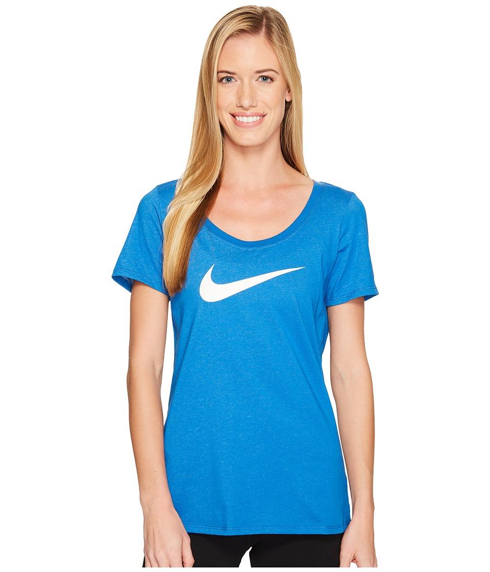 Nike Dry Tee (Blue Jay/Cirrus Blue/Heather/White) Women