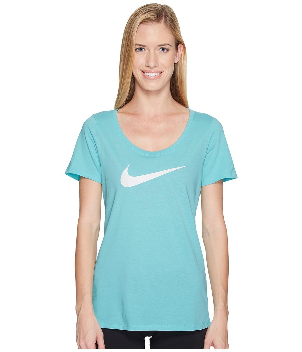Nike Dry Tee (Light Aqua/White) Women