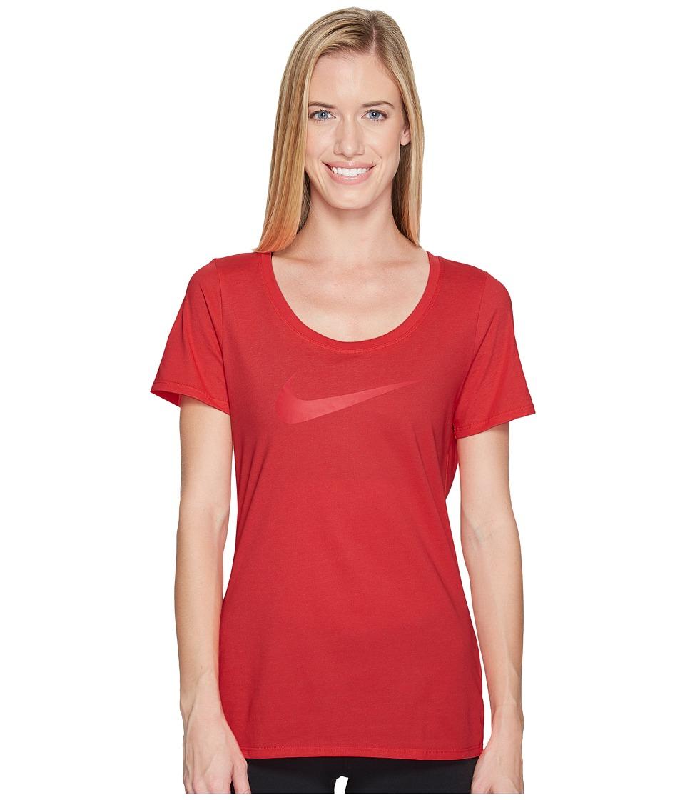 Nike Dry Tee (Light Fusion Red/Sunblush/Heather/Light Fusion Red) Women