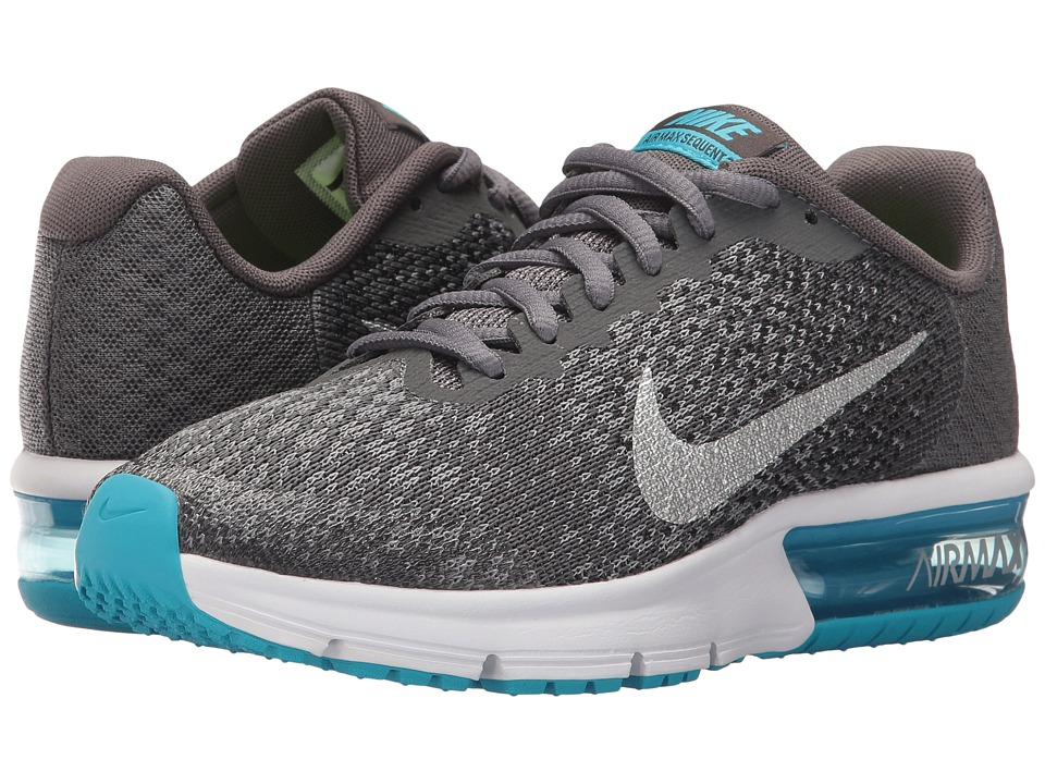 Nike Kids Air Max Sequent 2 (Big Kid) (Dark Grey/Metallic Silver/Black/Stealth) Boys Shoes