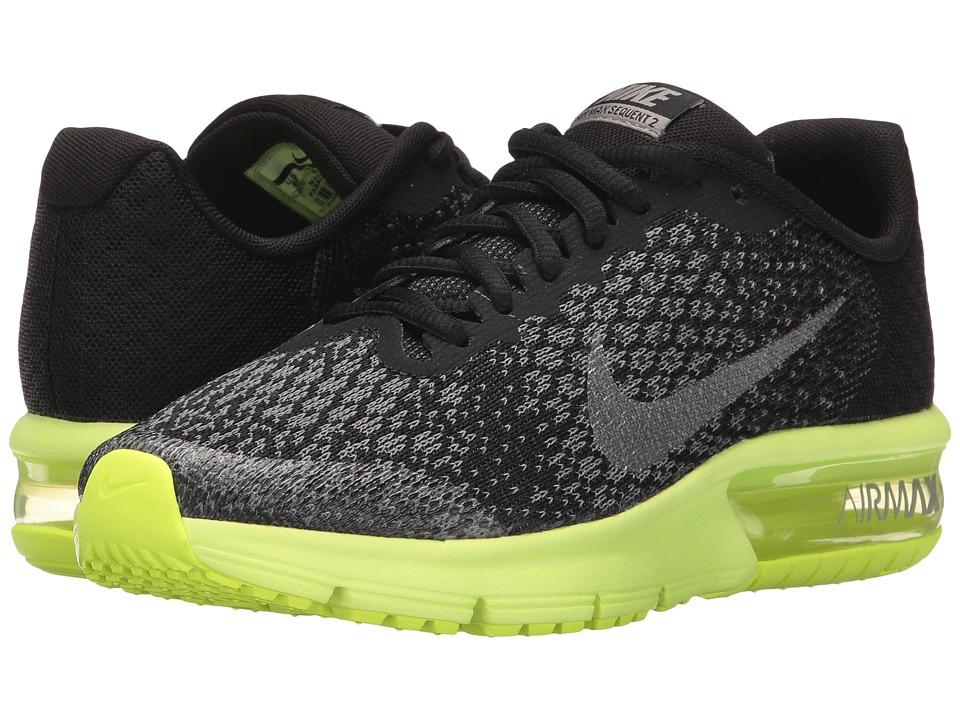 Nike Kids - Air Max Sequent 2 (Big Kid) (Black/Metallic Cool Grey/Anthracite) Boys Shoes