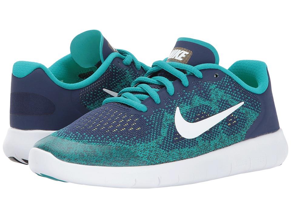Nike Kids Free RN 2 (Big Kid) (Binary Blue/White/Turbo Green) Boys Shoes