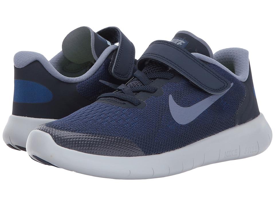 Nike Kids Free RN 2017 (Little Kid) (Binary Blue/Dark Sky Blue/Obsidian) Boys Shoes