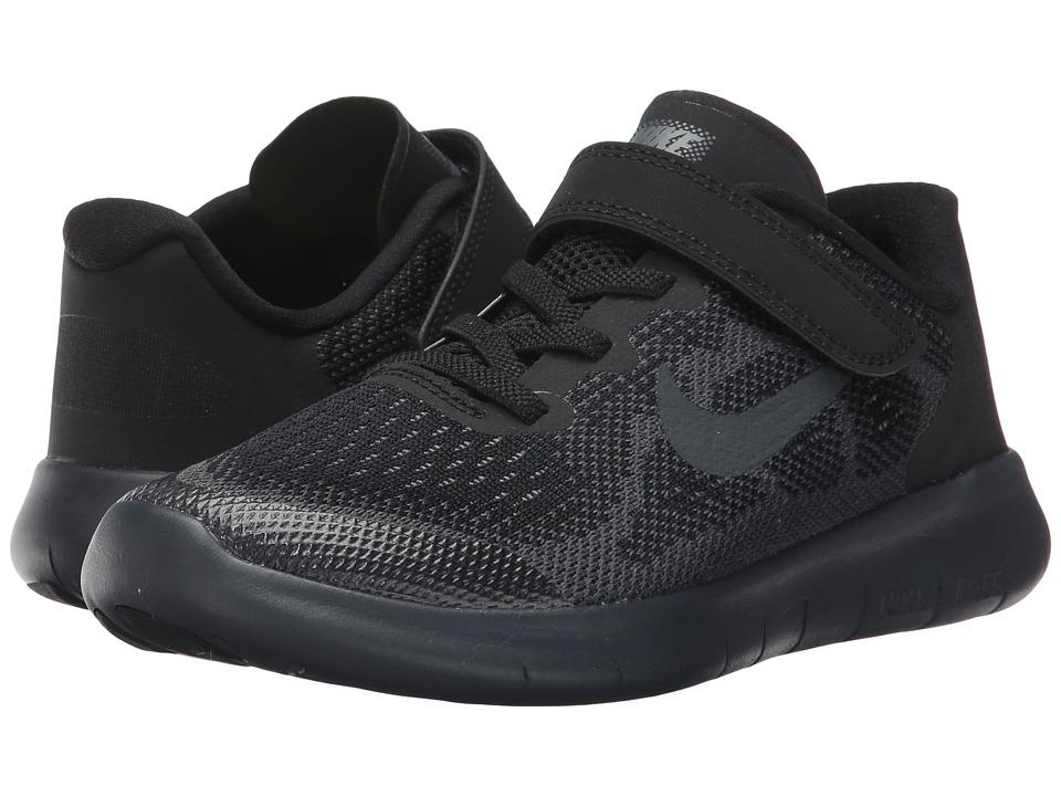 Nike Kids - Free RN 2017 (Little Kid) (Black/Anthracite/Dark Grey/Cool Grey) Boys Shoes