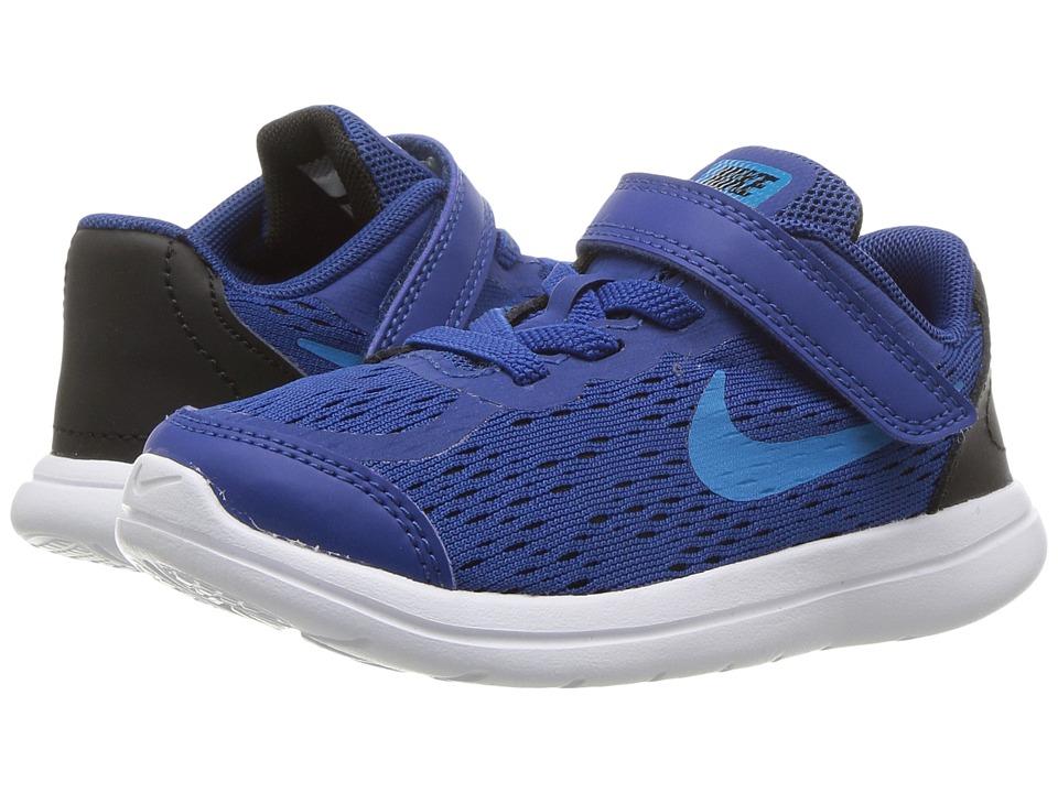 Nike Kids Flex RN 2017 (Infant/Toddler) (Gym Blue/Blue Orbit/Black/White) Boys Shoes