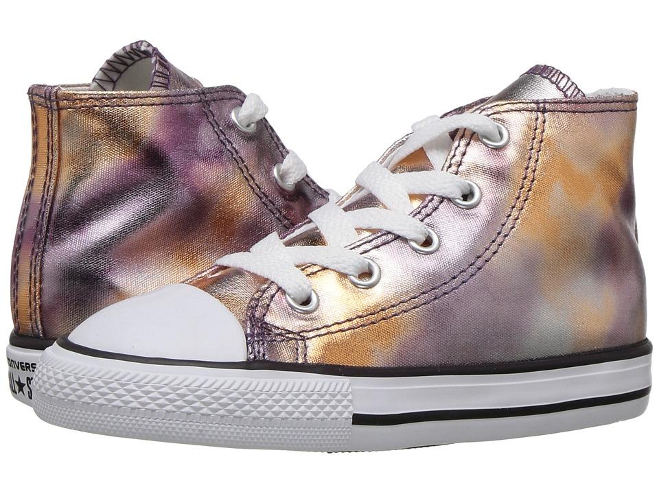 Converse Kids Chuck Taylor All Star Hi Metallic (Infant/Toddler) (Dusk Pink/White/Black) Girl