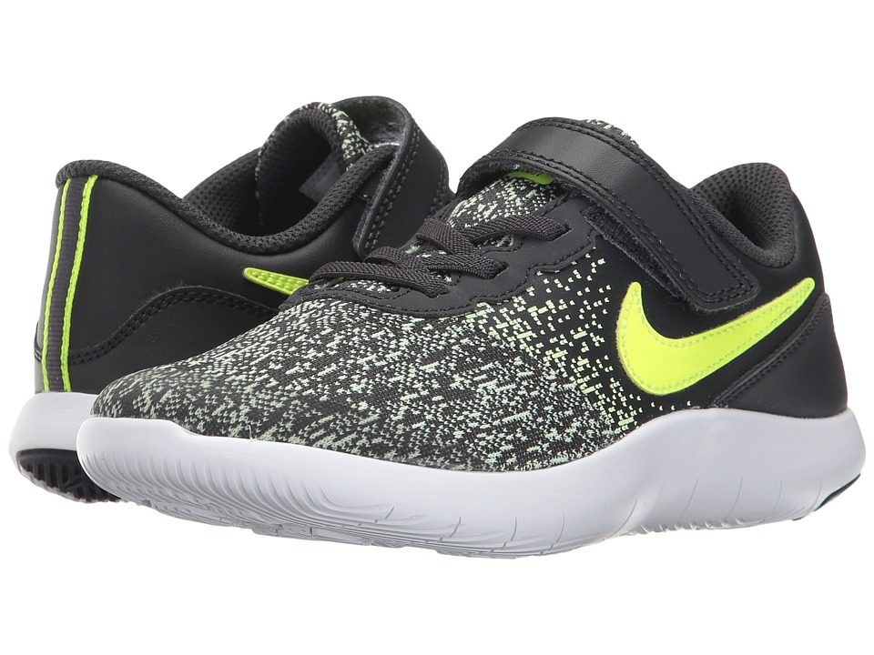 Nike Kids Flex Contact (Little Kid) (Anthracite/Volt/Barely Volt/White) Boys Shoes