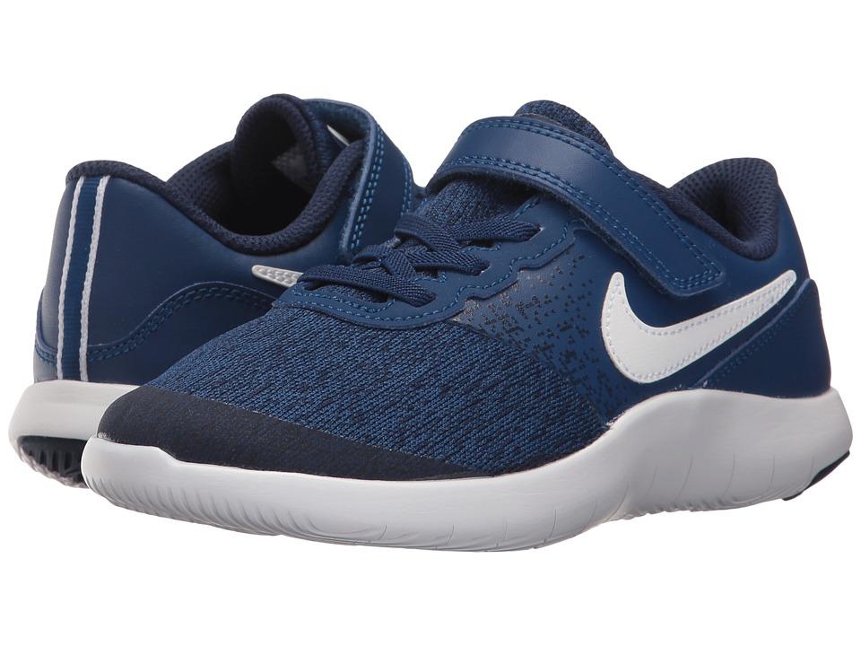 Nike Kids Flex Contact (Little Kid) (Gym Blue/White/Binary Blue) Boys Shoes