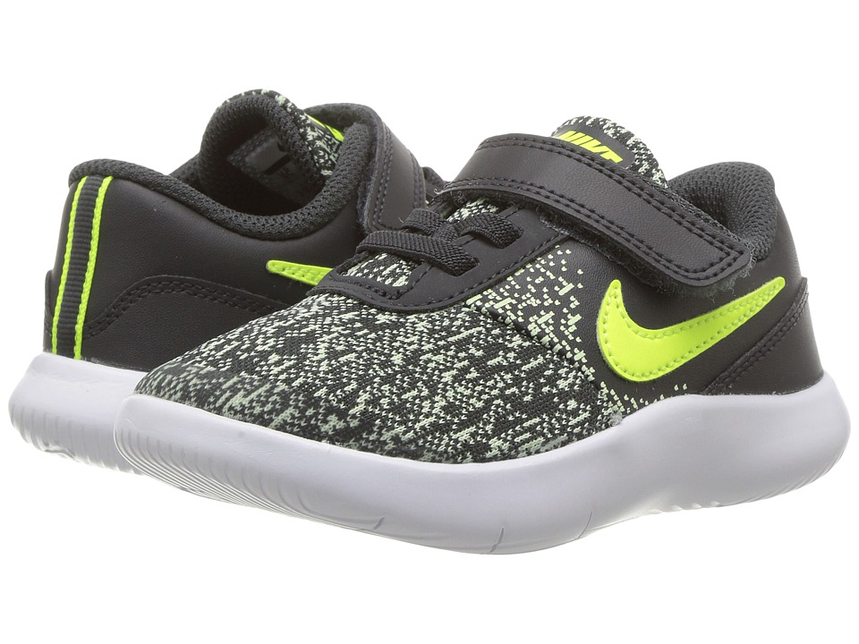 Nike Kids Flex Contact (Infant/Toddler) (Anthracite/Volt/Barely Volt/White) Boys Shoes