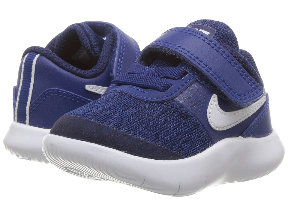 Nike Kids Flex Contact (Infant/Toddler) (Gym Blue/White/Binary Blue) Boys Shoes