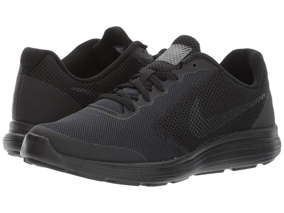 Nike Kids Revolution 3 (Big Kid) (Black/Black) Boys Shoes