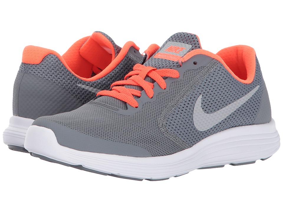 Nike Kids Revolution 3 (Big Kid) (Cool Grey/Matte Silver/Dark Grey) Boys Shoes
