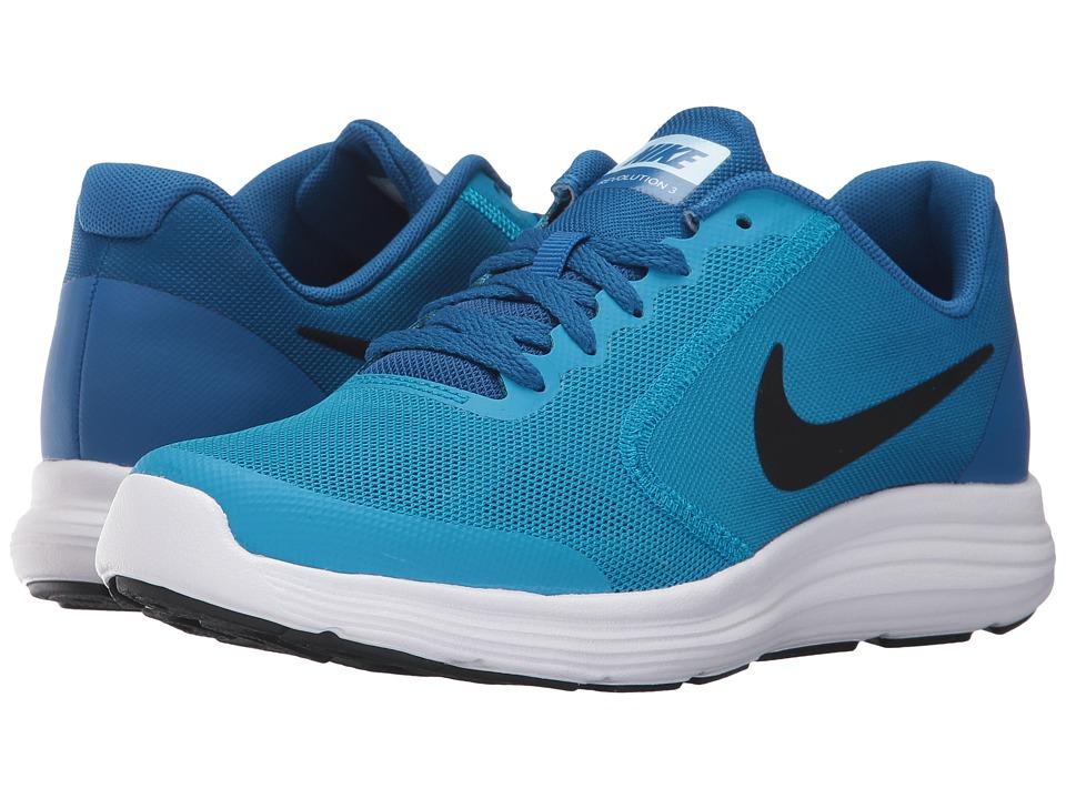 Nike Kids Revolution 3 (Big Kid) (Blue Orbit/Black/Blue Jay/White) Boys Shoes