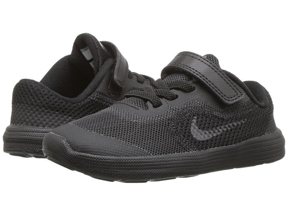 Nike Kids Revolution 3 (Infant/Toddler) (Black/Black) Boys Shoes