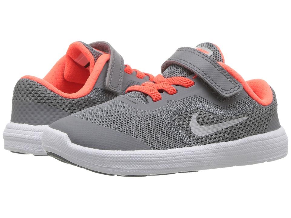 Nike Kids Revolution 3 (Infant/Toddler) (Cool Grey/Matte Silver/Dark Grey) Boys Shoes