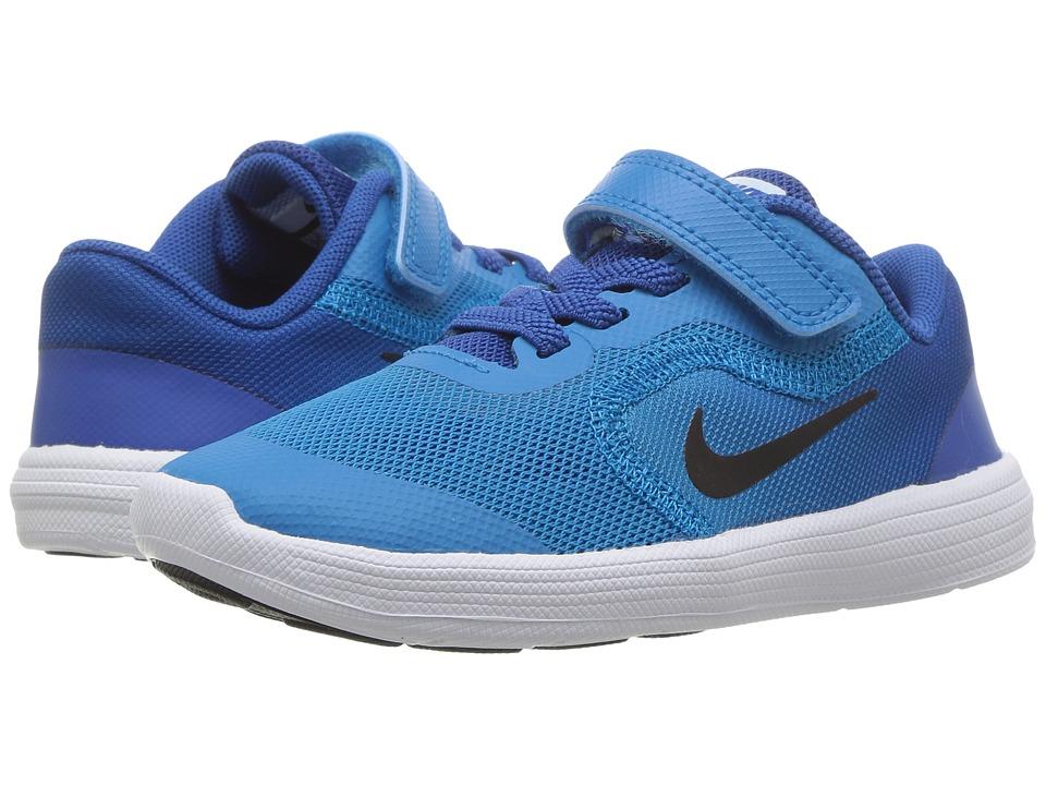 Nike Kids Revolution 3 (Infant/Toddler) (Blue Orbit/Black/Blue Jay/White) Boys Shoes