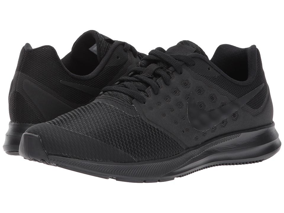 Nike Kids Downshifter 7 (Big Kid) (Black/Black) Boys Shoes