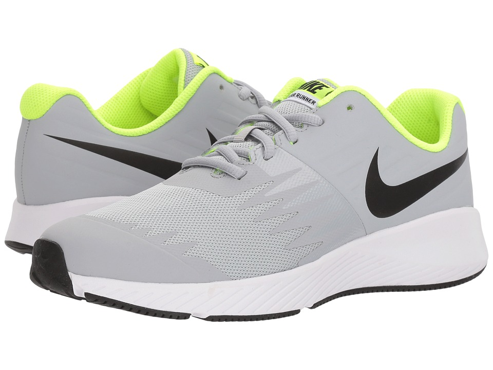 Nike Kids Star Runner (Big Kid) (Wolf Grey/Black/Volt/White) Boys Shoes