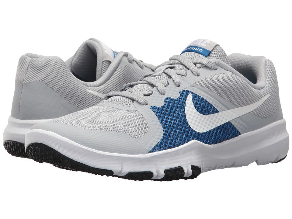 Nike Kids Flex TR Control (Little Kid) (Wolf Grey/Black/Blue Jay/White) Boys Shoes
