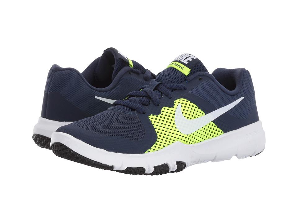 Nike Kids Flex TR Control (Little Kid) (Midnight Navy/White/Volt/Black) Boys Shoes