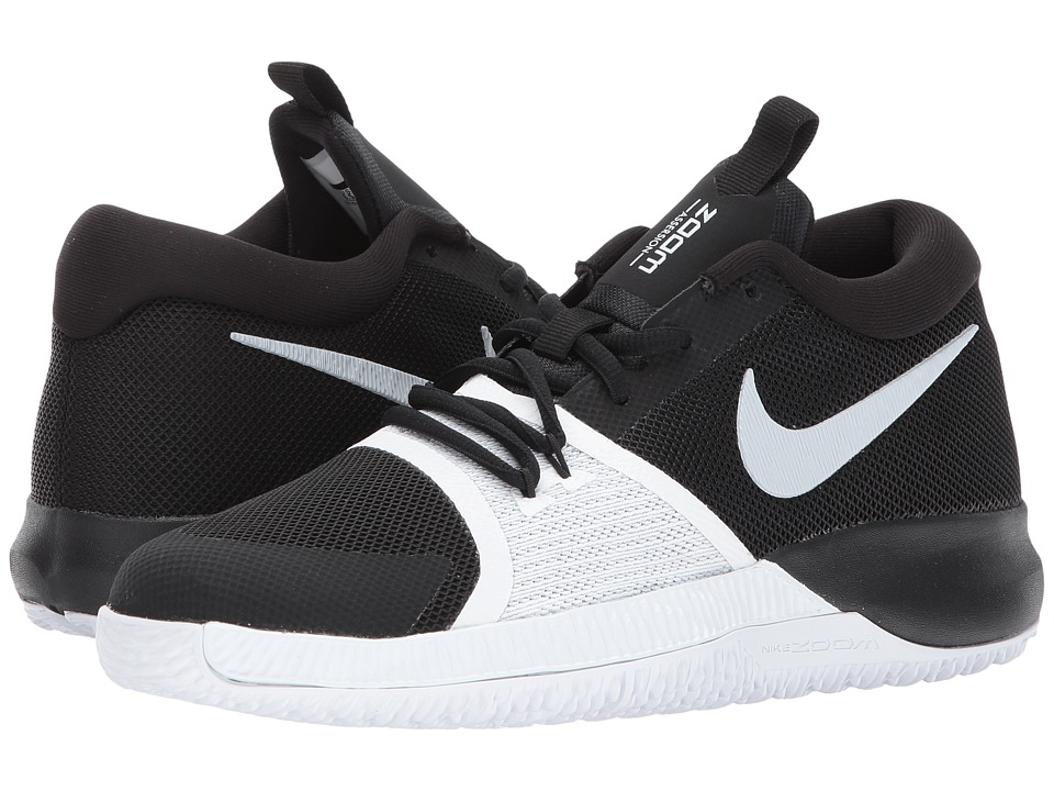 Nike Kids Zoom Assersion (Big Kid) (Black/White) Boys Shoes