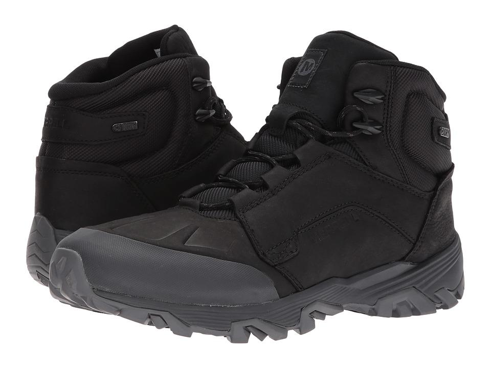 Merrell - Coldpack Ice+ Mid Waterproof (Black) Mens Waterproof Boots
