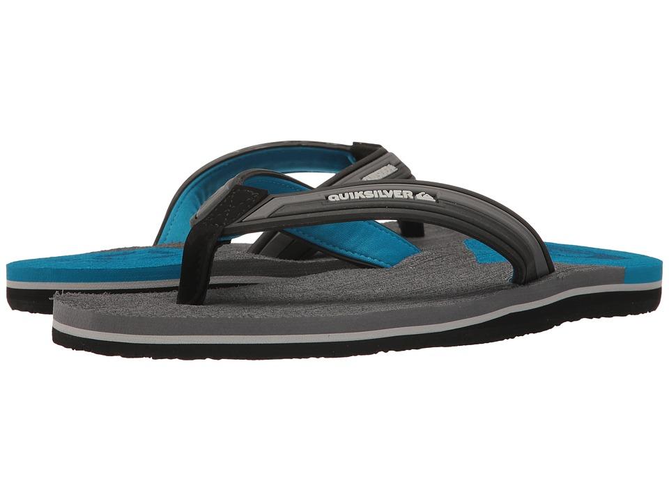 Quiksilver - Molokai New Wave Deluxe Float (Black/Grey/Blue) Men's Sandals