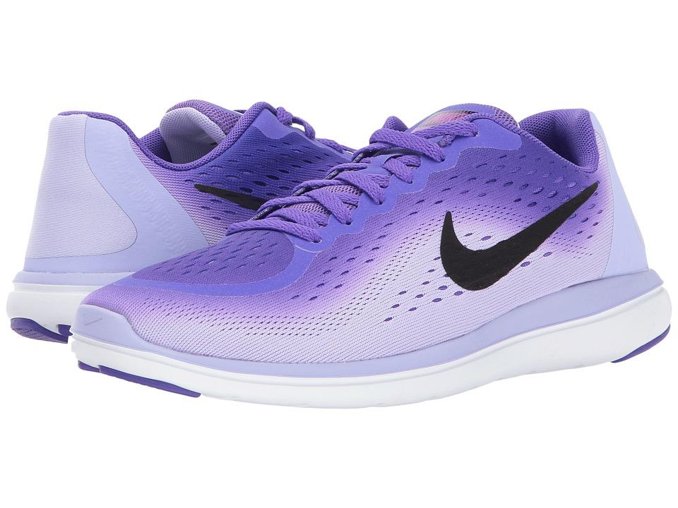 Nike Kids Flex RN 2017 (Big Kid) (Hyper Grape/Black/Purple Agate) Girls Shoes