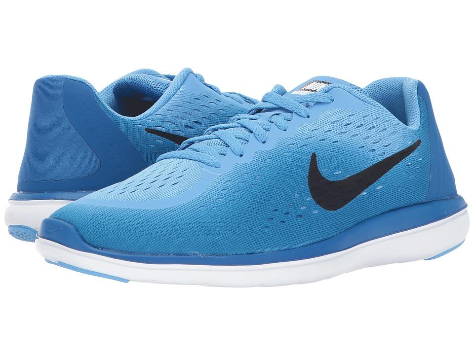 Nike Kids Flex RN 2017 (Big Kid) (University Blue/Black/Blue Jay) Girls Shoes