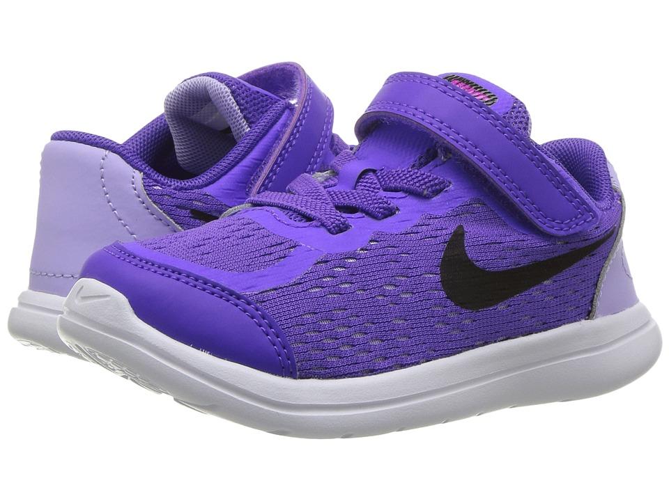 Nike Kids Flex RN 2017 (Infant/Toddler) (Hyper Grape/Black/Purple Agate) Girls Shoes