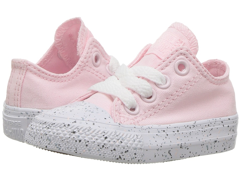 Converse Kids Chuck Taylor All Star Speckled Midsole Ox (Infant/Toddler) (Arctic Pink/White/Multi) Girl