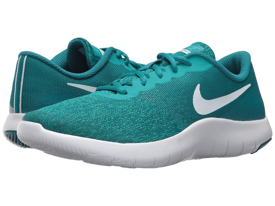 Nike Kids Flex Contact (Big Kid) (Blustery/White/Turbo Green) Girls Shoes