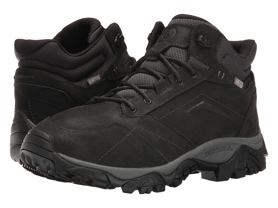 Merrell - Moab Adventure Mid Waterproof (Black) Mens Shoes