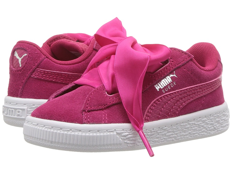 Puma Kids Suede Heart SNK (Toddler) (Love Potion/Love Potion) Girls Shoes