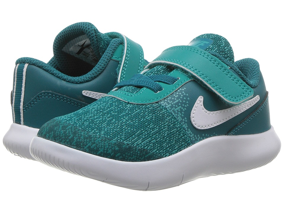 Nike Kids Flex Contact (Infant/Toddler) (Blustery/White/Turbo Green) Girls Shoes