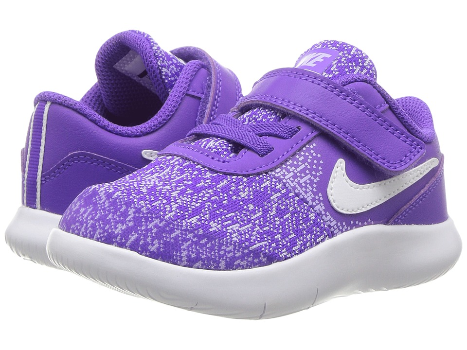 Nike Kids Flex Contact (Infant/Toddler) (Hyper Grape/White/Purple Agate) Girls Shoes