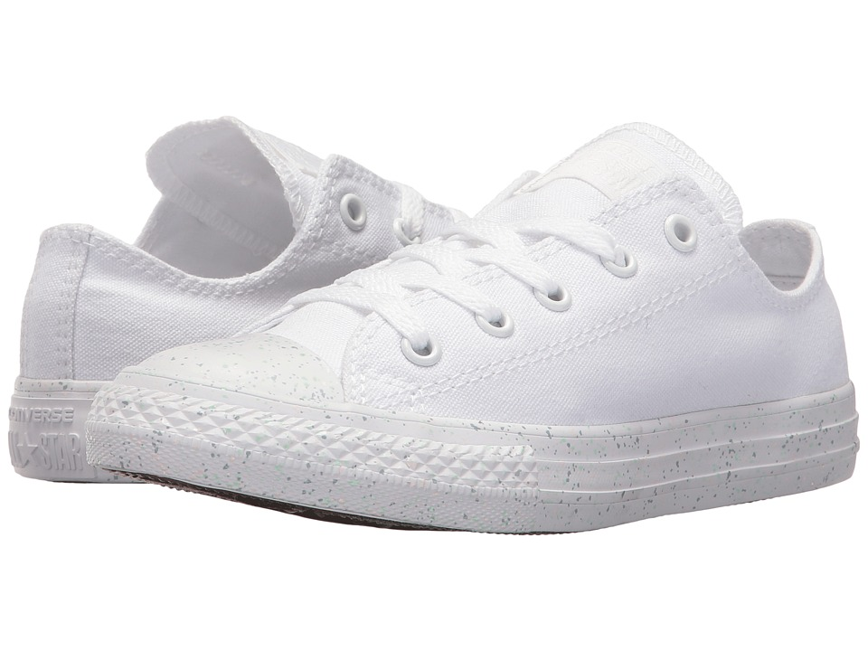 Converse Kids Chuck Taylor All Star Speckled Midsole Ox (Little Kid) (White/White/White) Girl