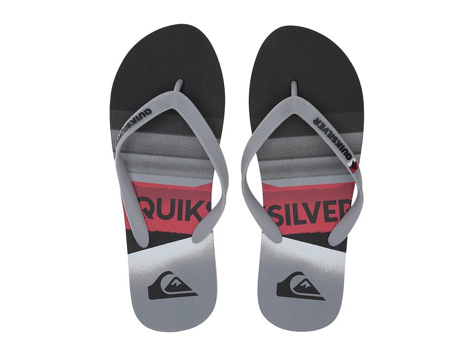 Quiksilver Molokai Slash Logo (Black/Grey/Red) Men