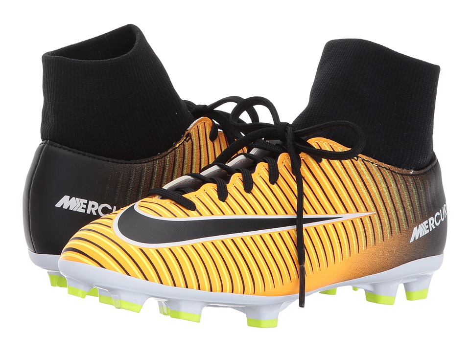 Nike Kids Mercurial Victory VI FG Soccer (Little Kid/Big Kid) (Laser Orange/Black/White/Volt) Kids Shoes