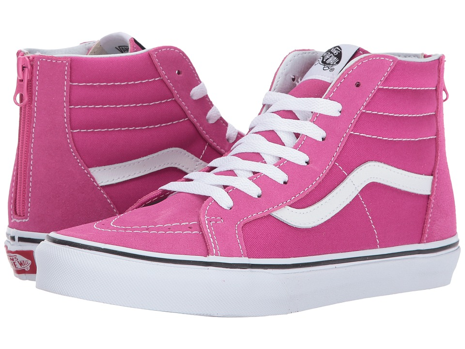 Vans Kids Sk8-Hi Zip (Little Kid/Big Kid) (Very Berry/True White) Girls Shoes