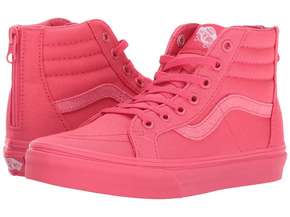 Vans Kids Sk8-Hi Zip (Little Kid/Big Kid) ((Mono) Paradise Pink/Glitter) Girls Shoes