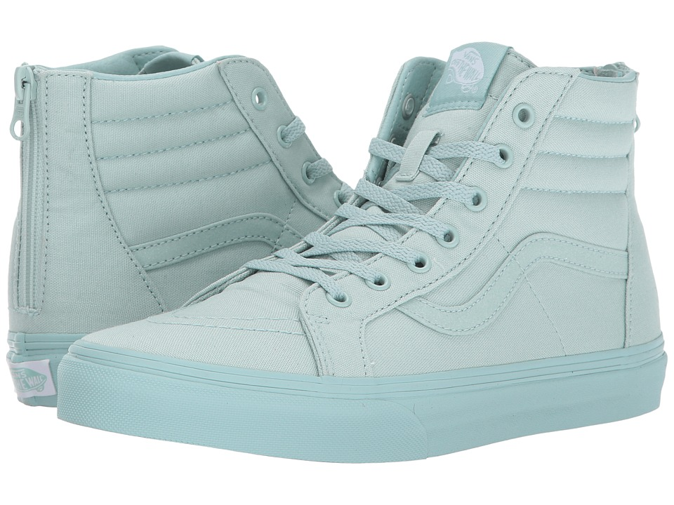 Vans Kids Sk8-Hi Zip (Little Kid/Big Kid) ((Mono) Harbor Gray/Glitter) Girls Shoes